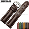 18|20|22mm watchband Top Fashion New Arrival Soft Durable Genuine Calfskin Leather Black & Coffee Men Women Leather Bracelet