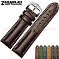 18|20|22mm watchband Top Fashion New Arrival Soft Durable Genuine Calfskin Leather Black & Coffee Men Women Leather Bracelet