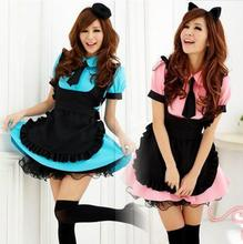 Halloween Japanese Anime Waiter Served Cosplay Clothes Cat Ladies Maid Cafe Service Masquerade Costumes