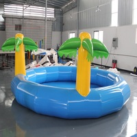 inflatable pool outdoor large swimming pool size 4*4*0.6 M summer water game suitable for kids income considerable by business