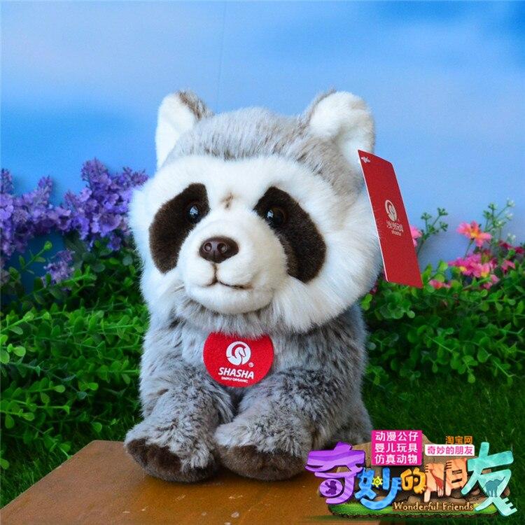ФОТО cute raccoon plush toy new high quality raccoon doll about 25cm