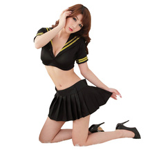 2016 Free Shipping New Cosplay Youth Student Uniforms Sexy Lingerie Women Costumes font b Sex b