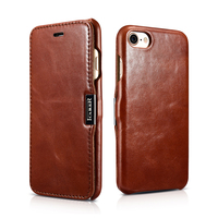Original ICARER Luxury Genuine Leather Case For iPhone 8 7 6 6s/ Plus Luxury Magnetic Flip Cover For iPhone 8 7 6 6s Phone Cases