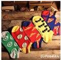 Frete grátis 10 pc = 5 pairs = 1 LOTSuperman Batman América retro dos desenhos animados Harajuku meias meias padrão de caracteres de Super-heróis chinelo