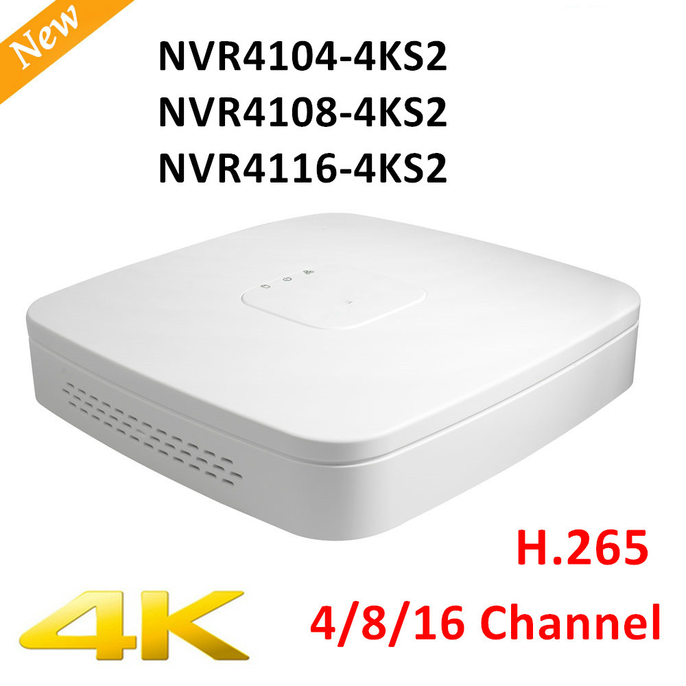 Original Export Version DH NVR4104-4ks2 NVR4108-4ks2 NVR4116-4ks2 Smart 1U Mini NVR H.265 8mp 4ch/8ch/16ch NVR Without logo 2014 new arrival dahua smart 1u nvr with p2p mini nvr nvr4104 nvr4108 nvr4116 free dhl shipping