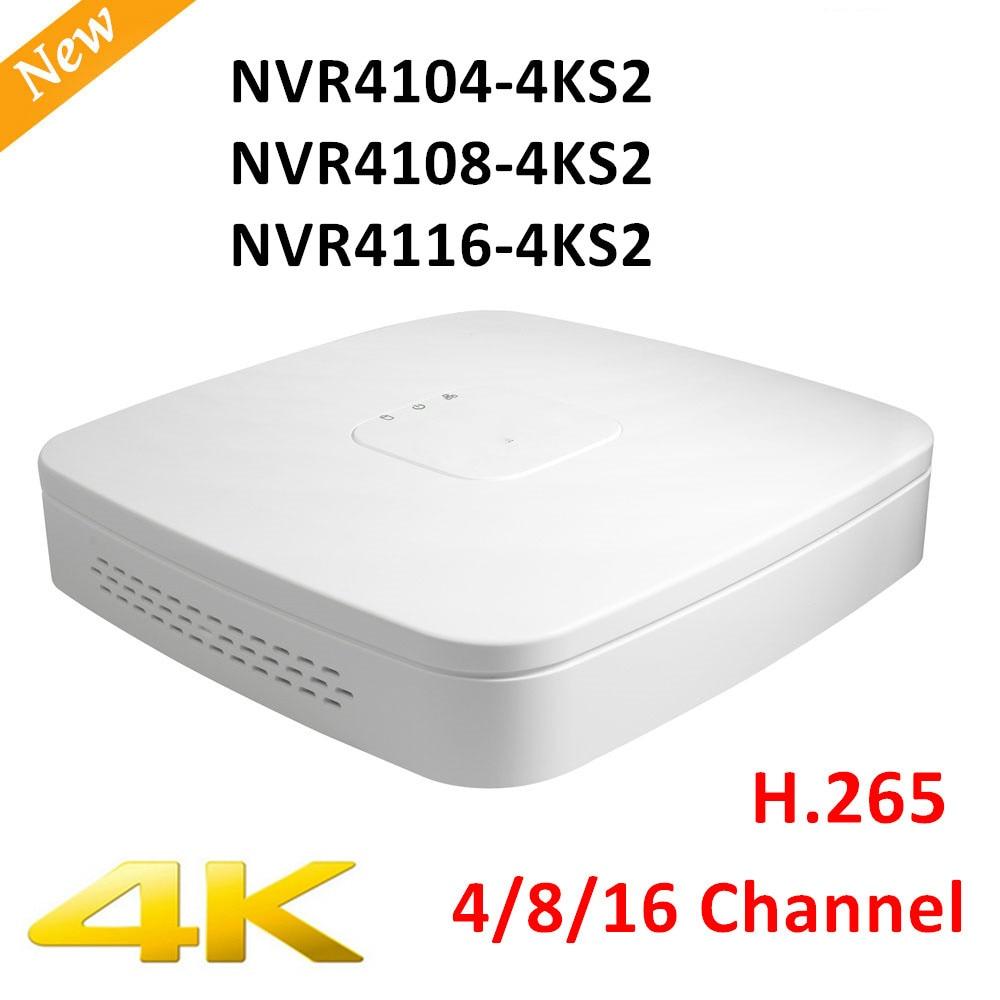 Versão de Exportação Original DH NVR4104-4ks2 NVR4108-4ks2 NVR4116-4ks2 H.265 1U Mini-nvr Inteligente 8mp 4ch/8ch/16ch NVR Sem logotipo