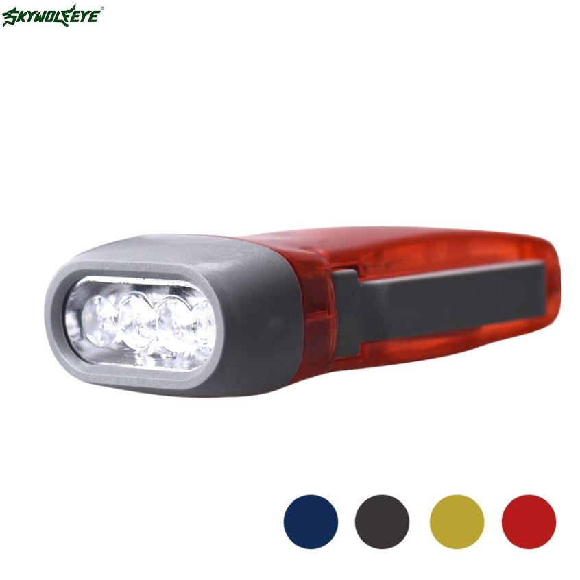 DC 5 Shining Hot Selling Drop Shipping Wind up Hand Pressing Crank Emergency Camping LED Flashlight