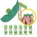 2 Unids/lote presión anti stress relief Divertido Vent juguete de Frijol de Soja Extrusión apretó Llavero Llavero Juguetes de Niños Adultos Regalo