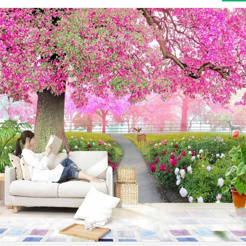beibehang Custom Photo Mural Wallpaper Three dimensional Flower ...
