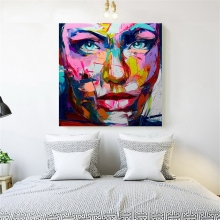 High Quanlity Designer Francoise Nielly Cool face Artworks Oil Painting Canvas Abstract oil painting Customized