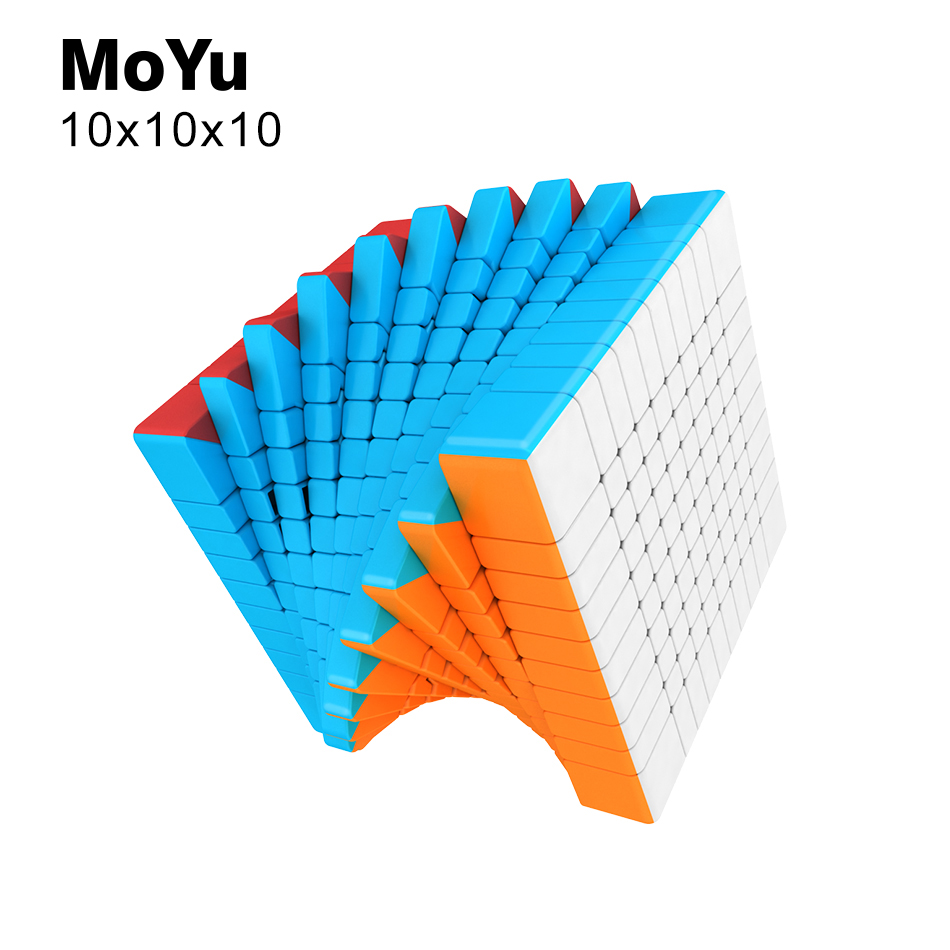 Nouveau MoYu MeiLong 10x10x10 Magic Speed Cube Cubing classe professionnel sans autocollant Puzzle Cubo Magico jouets éducatifs pour enfant