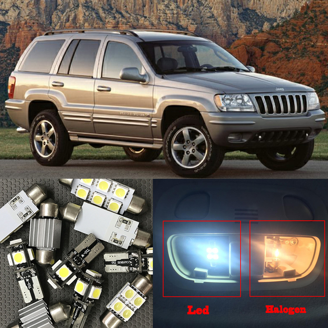 10x Canbus Error Free Led Interior Light Kit Package For 1999 2004 Jeep Grand Cherokee Accessories Map Dome Trunk License