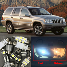10x Canbus Error Free LED Interior Light Kit Package for 1999-2004 Jeep Grand Cherokee accessories Map Dome Trunk License Light