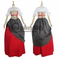 Pirate Wench Medieval Dress Renaissance Period Costume D0126
