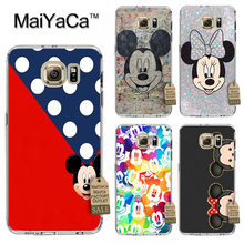 MaiYaCa Mickey High Quality Classic Phone Accessories Case for Samsung S3 S4 S5 S6 S6edge S6plus S7 S7edge S8 S8plus(China)