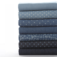 Classic Cotton Denim Fabric Garment Fabric Washed Denim Fabric For Diy Bag Sewing Accessories Ss 4526