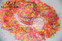 Mix Neon Colors Solvent Resistant Butterfly And Hexagon Shape Glitter For Nail Art Polish And DIY