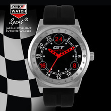 Colección de Coches de Carreras de GT de GT1 Deportes Correa de Silicona Reloj Militar Negro Dial Reloj de Los Hombres Relojes de Moda