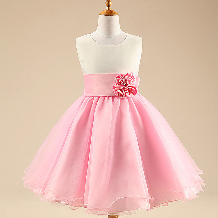Pink and White Party Dresses for Girls