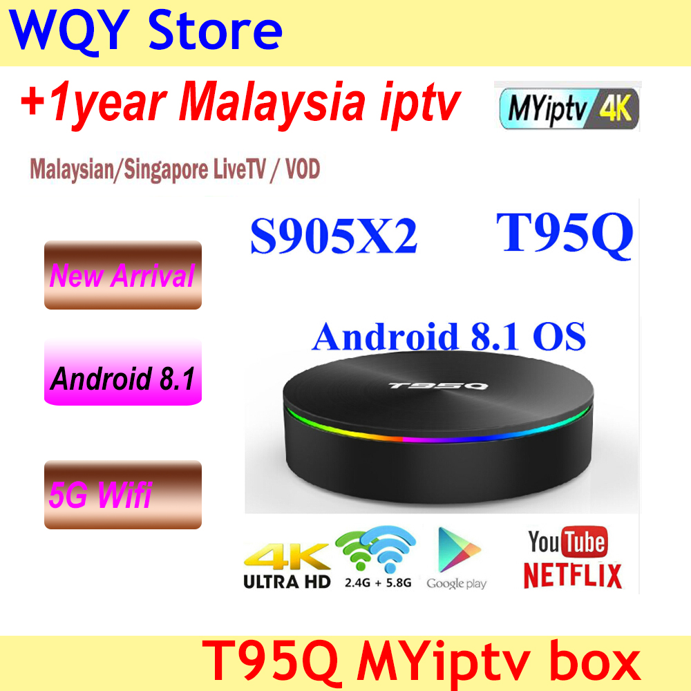2018 Amlogic S905X2 Android 8 1 TV BOX T95Q 4K Smart Media Player