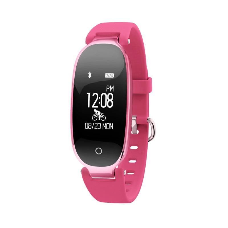 купить Fashion Bluetooth Waterproof Smart Watch Fashion Women Ladies Heart Rate Monitor Fitness Tracker Smartwatch for Android IOS по цене 2468.31 рублей