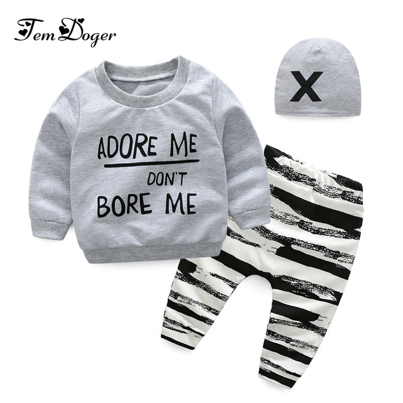 2017 fashion autumn winter baby boy girl clothing sets newborn tracksuits zipper jacket+t-shirt+pants 3pcs suit baby clothes set
