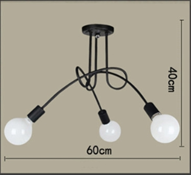 E27 American country living room lamp Nordic garden home bedroom wrought iron lamps simple meal three head five chandeliers Pend american country garden simple pendant lights dining room living room bedroom lighting country style garden cloth lu815300