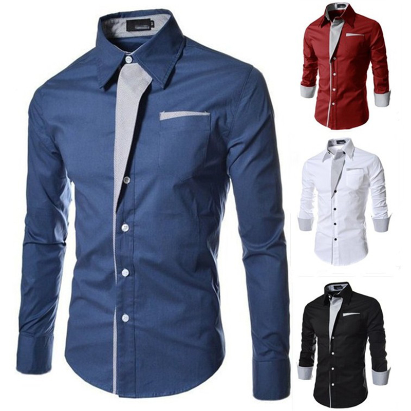 Mens Shirts Camisa Masculina Long Sleeve Shirt Men Korean Slim Design Formal Casual Male Dress Shirt