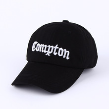 Compton Baseball Cap Men Women Snapback Hip Hop Hat Black White Casquette fashion solid black pu leather snapbacks for men women spring warm leather hip hop snapback baseball cap women s hat casquette