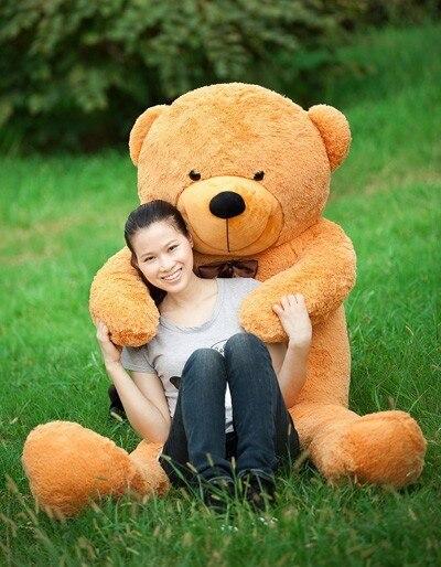 Frete Grátis 180 cm bichos de pelúcia brinquedos de pelúcia grande urso de peluche gigante marrom em tamanho natural bonecas miúdo meninas de brinquedo de presente 2018 New arrival - 3