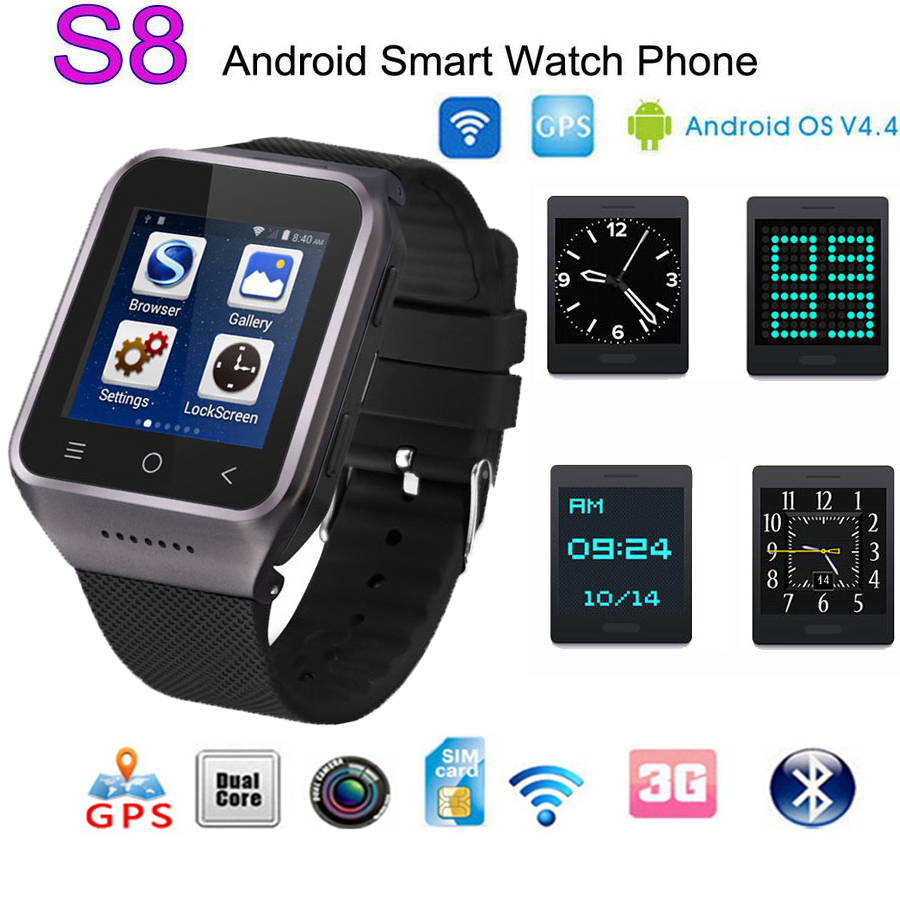 ZGPAX S8 bluetooth font b smartwatch b font 512M 4G Smart Watch built in 8G menory