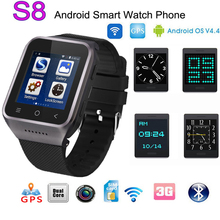ZGPAX S8 bluetooth smartwatch 512 Mt + 4G Smart Uhr in 8G gebaut menory 1,2 GHz unterstützung 3G, wifi, GPS, SIM, Kamera für Android IOS beobachten