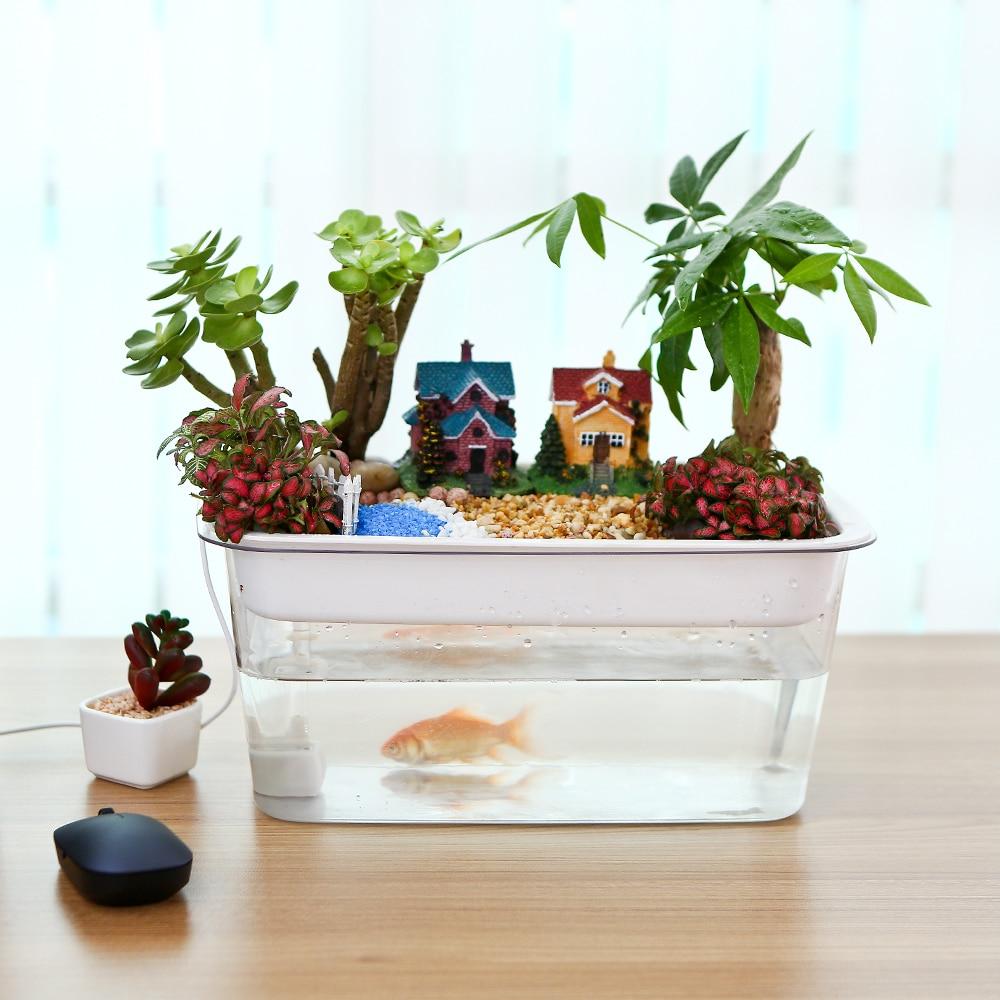DADYPET USB Fish Tank Aquarium Hydroponics Fish Tank ...