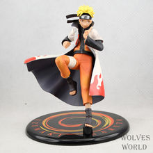Anime Naruto 18CM Shippuden Uzumaki Naruto Heads Hands Exchange PVC Action Figure Collection Toy Model Brinquedos