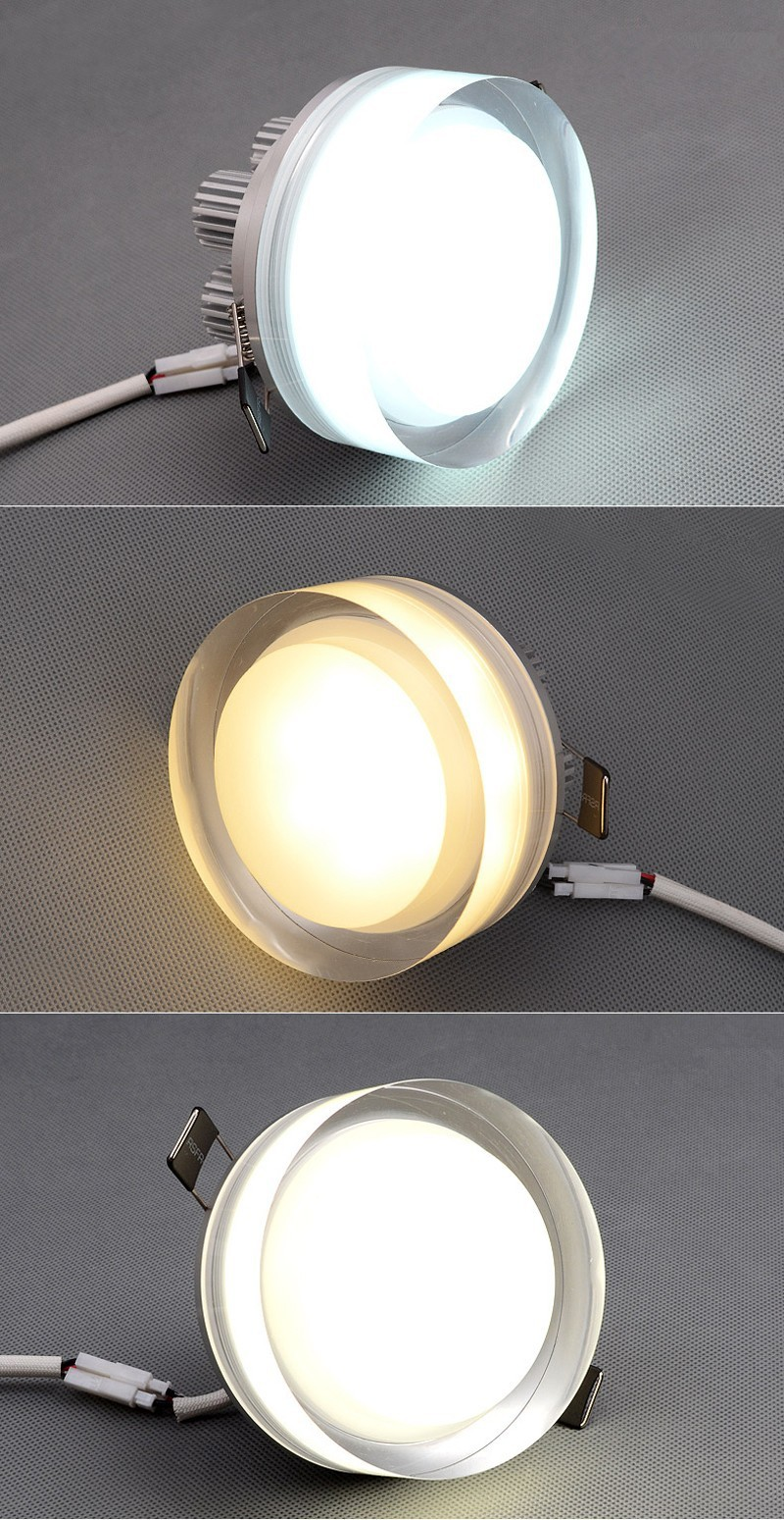 SquareRound  ceiling lamp Crystal LED Downlight 1W3W5W9W  LED Ceiling Lamp Corridor Lights AC110V220V LED Spot Light (3)