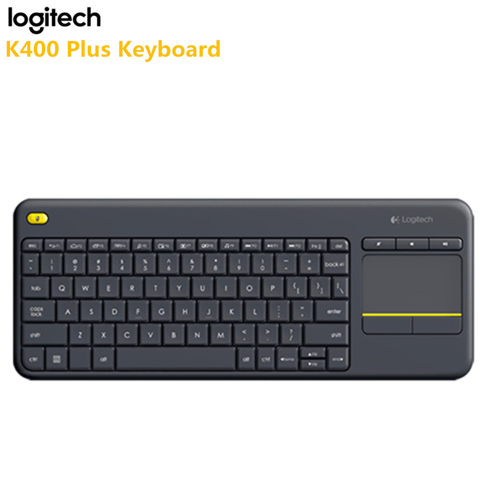 Clavier tactile sans fil Logitech K400 Plus Original écran tactile pour ordinateur portable technologie Uniflying pour ordinateur portable Android TV HTPC