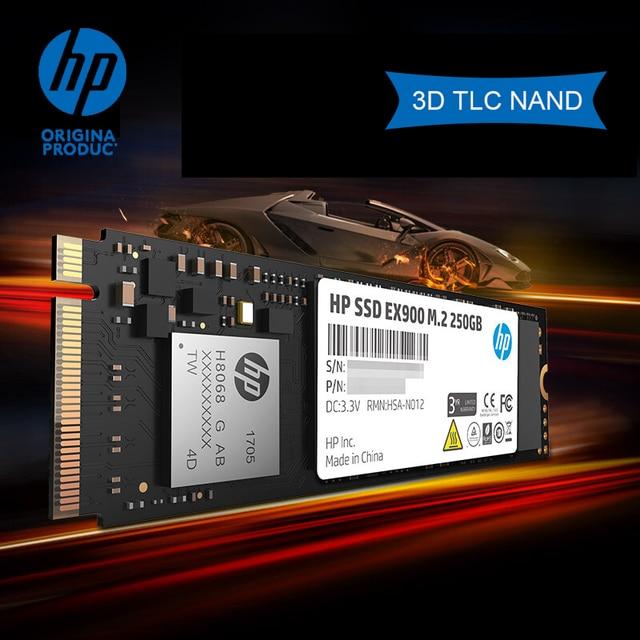 Hp ssd m2 2280 sata 500gb m.2 ssd 120 gb 250 gb pcie 3.1x4 nvme 3d tlc nand 내부 솔리드 스테이트 드라이브 최대 2100 mbps 원본