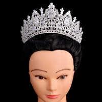 Princess Crown HADIYANA Classic Design Elegante di Cerimonia Nuziale Nuziale Dei Monili Dei Capelli Diademi E Corone Donne Zircone BC5069 Corona Princesa