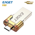 usb flash drive 3.0 Eaget v80 OTG pass h2test Smart Phone Tablet PC 16GB 32GB 64GB usb 3.0 pen driveExternal Storage pendrive