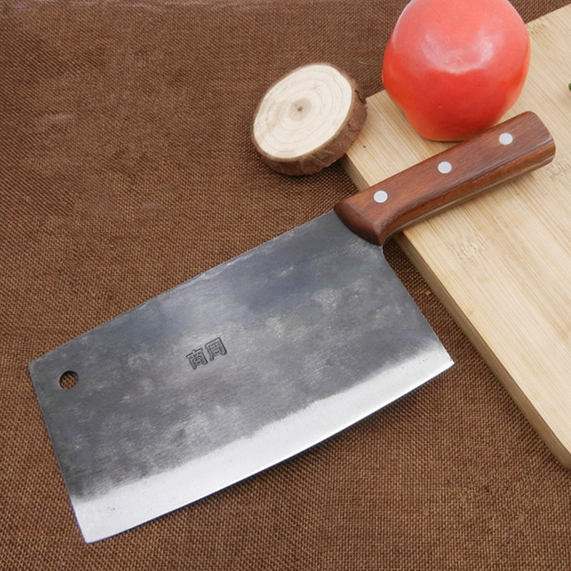 MISGAR Traditional Chinese Slicing Knive Old Blacksmith Handmade Kitchen Cutting Knives Regrinding Forged Knife Sharp Slicer