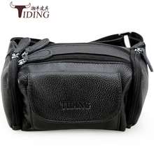 man waist packs genuine leather 2018 new male cow leather fashion brand vintage black waist chest bags male real leather bags difenise new design men waist packs genuine leather fashion purse large capacity plane tanned leather waist bags real handmade