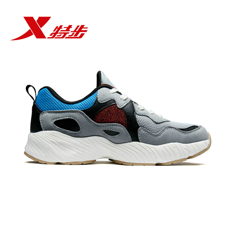 Купить с кэшбэком Xtep Women's Chunky Sneakes Shoes New Authentic Female Autumn Winter Sports For Women's Casual Dad Shoes 882418329558