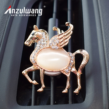 Фотография ANZULWANG angel wings Pegasus car air conditioning perfume car interior air freshener artificial crystal car air export perfume