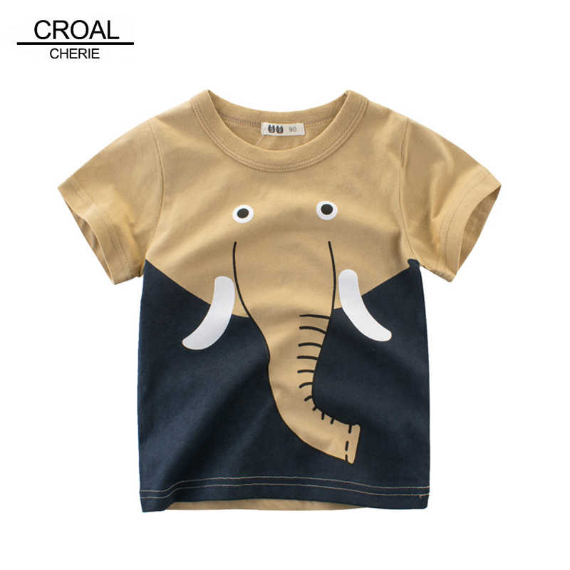 30b1437482993 CROAL CHERIE Cute Elephant Animal Children's T-Shirts With Print Summer Kid  Baby Girl Boys