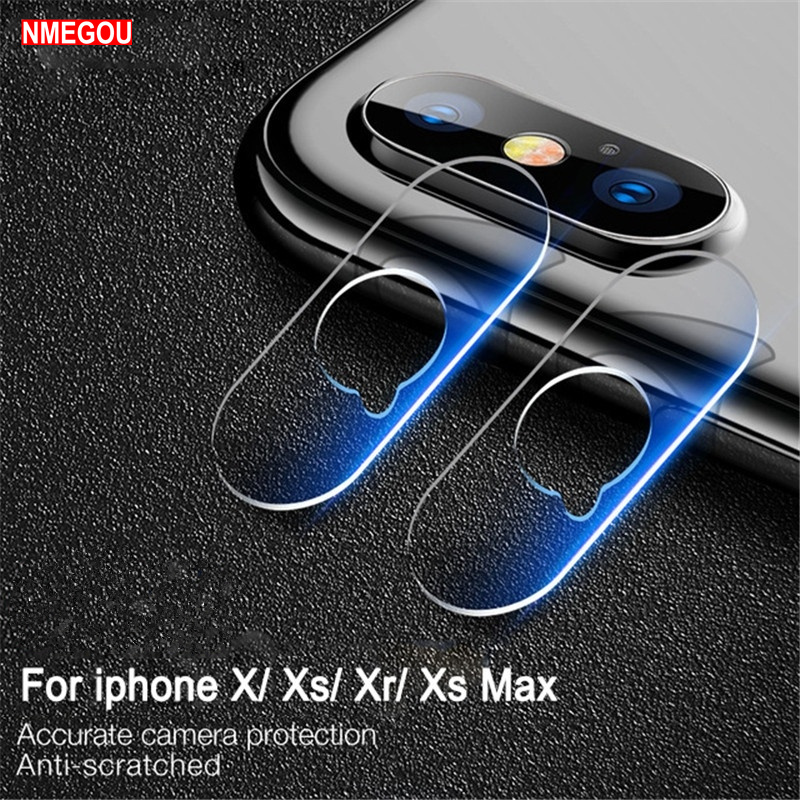 size 40 a8960 d13e5 US $0.89 10% OFF|Glass Screen Protector Full Cover for IPhone X XR XS Max  Camera Phone Lens Case for IPhone 6 6s 7 8 Plus Capa Bumper Accessories-in  ...