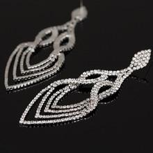 YFJEWE Fashion Wedding Accessories Jewelry Women Earrings Bijoux Genuine SWA Elements Austrian Crystal Long Earring #E053