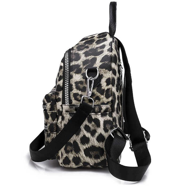 Рюкзак с леопардовым узором, сумка для женщин 2018, модный Школьный Рюкзак Для учебников для девочек-подростков, повседневный рюкзак для отдыха, рюкзак для путешествий