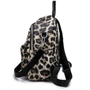 Image 4 - รูปแบบเสือดาวกระเป๋าเป้สะพายหลังผู้หญิง 2020 แฟชั่นกระเป๋าเป้สะพายหลังหนังสือโรงเรียนสำหรับวัยรุ่นสาวพักผ่อนประจำวันPackbagกระเป๋าเป้สะพายหลัง