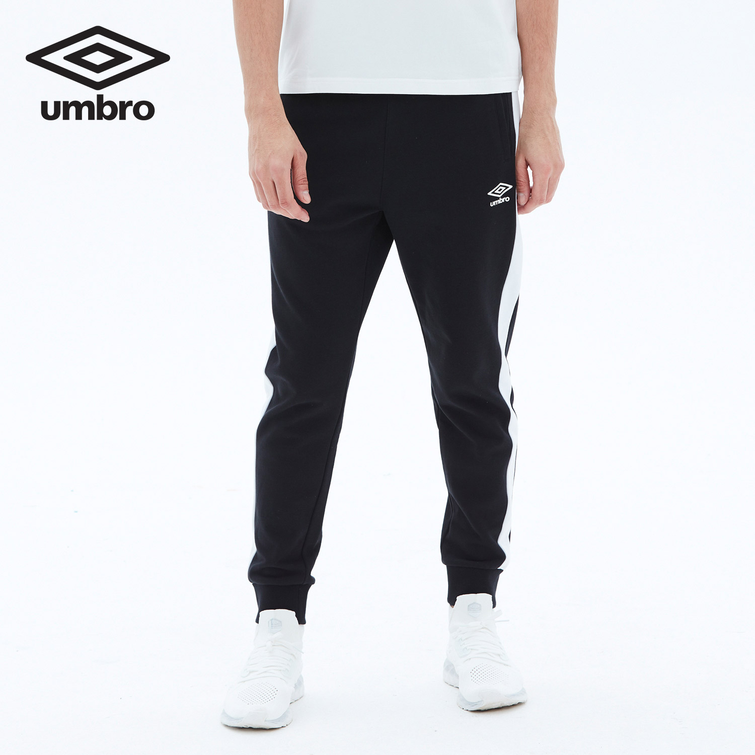 Umbro Sweatpants 2018 New Men Running Knit Sport Pants Cotton 84.3% Polyester Breathable Comfort Trousers UO181AP2301 new 2018 men outdoor running sports pants striped full length leisure sport trousers comfortable breathable sweatpants