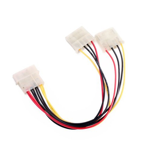 10pcs/lot New 8 inch Computer Molex 4 Pin Power Supply Y Splitter Cable amt9518 10 4 inch